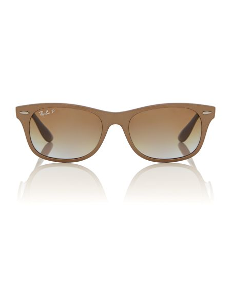 Ray-Ban Unisex`s grey gradient brown polar square sunglas