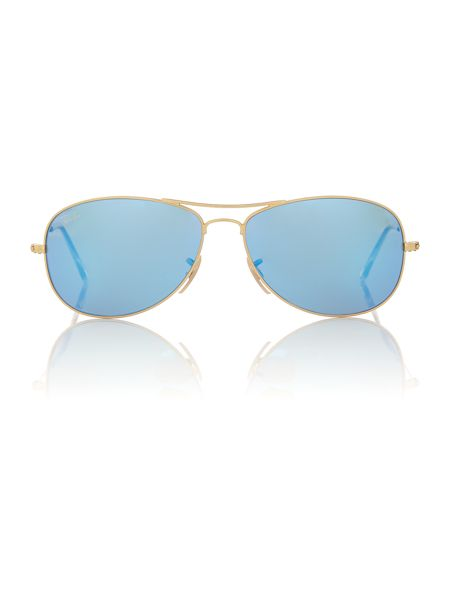 Ray-Ban Men`s grey mirror blue pilot sunglasses