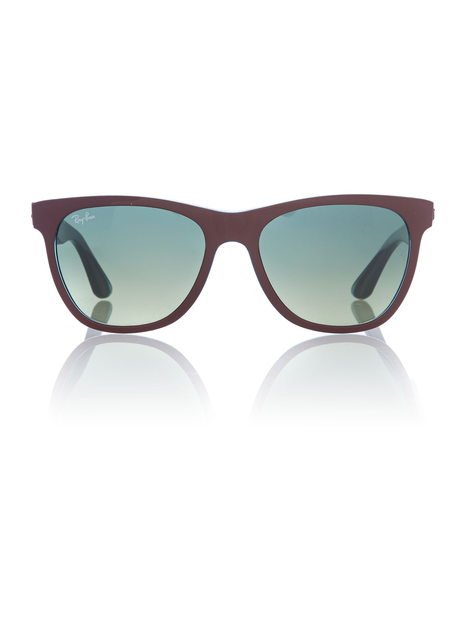 Men green gradient green squared sunglasses