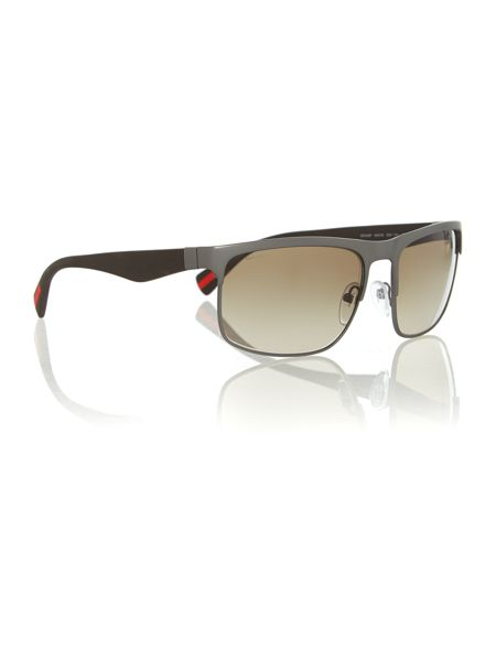 Prada Linea Rossa Rubber Rectangle Sunglasses
