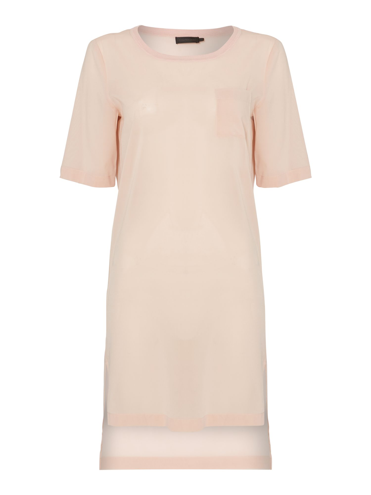 Welta short sleeve dress in cameo rose