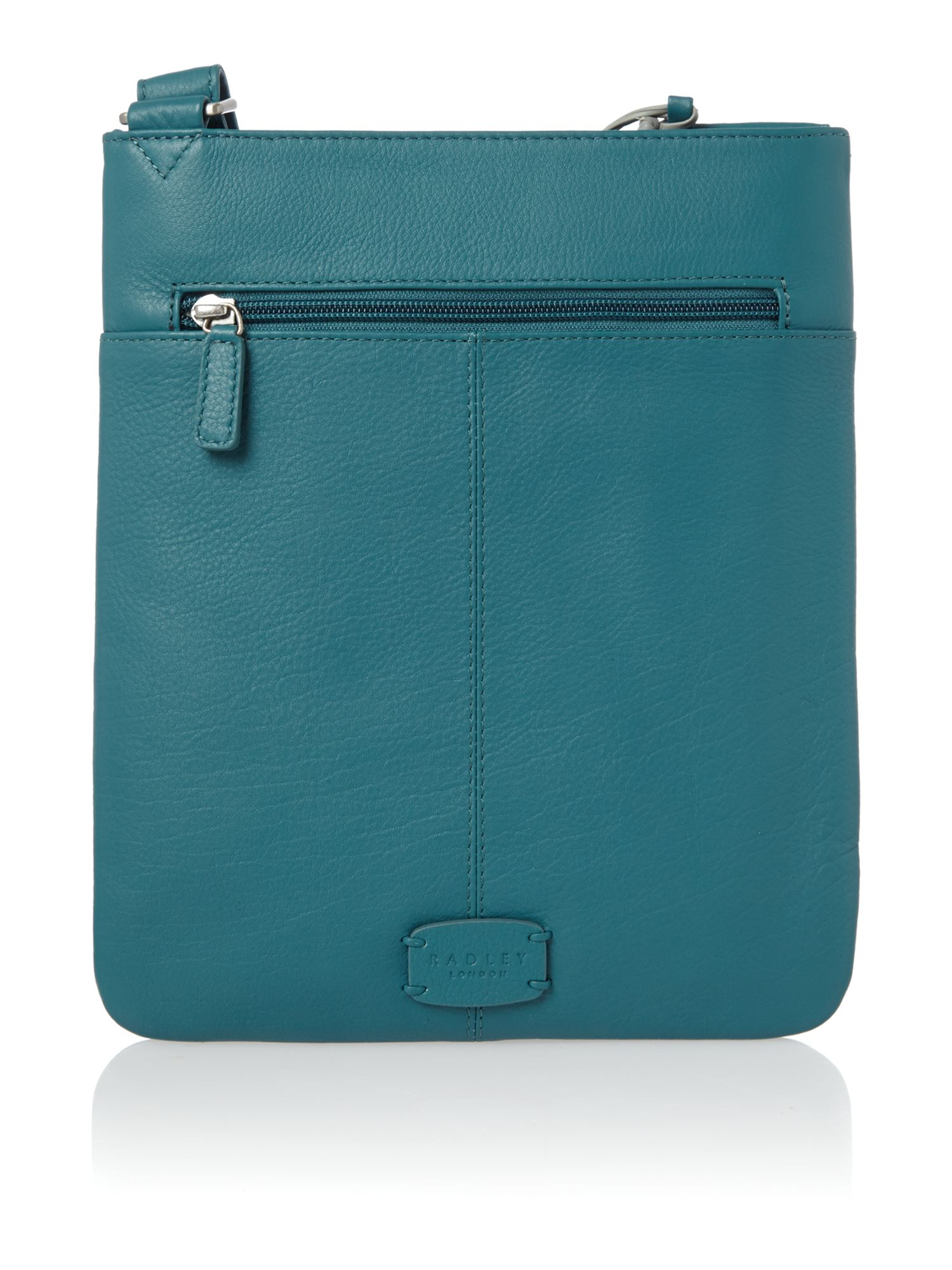 Pocket bag medium ziptop xbody leather blue bag