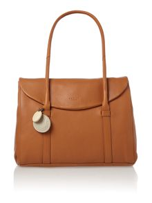 Waterloo large fover shoulder tan leather bag
