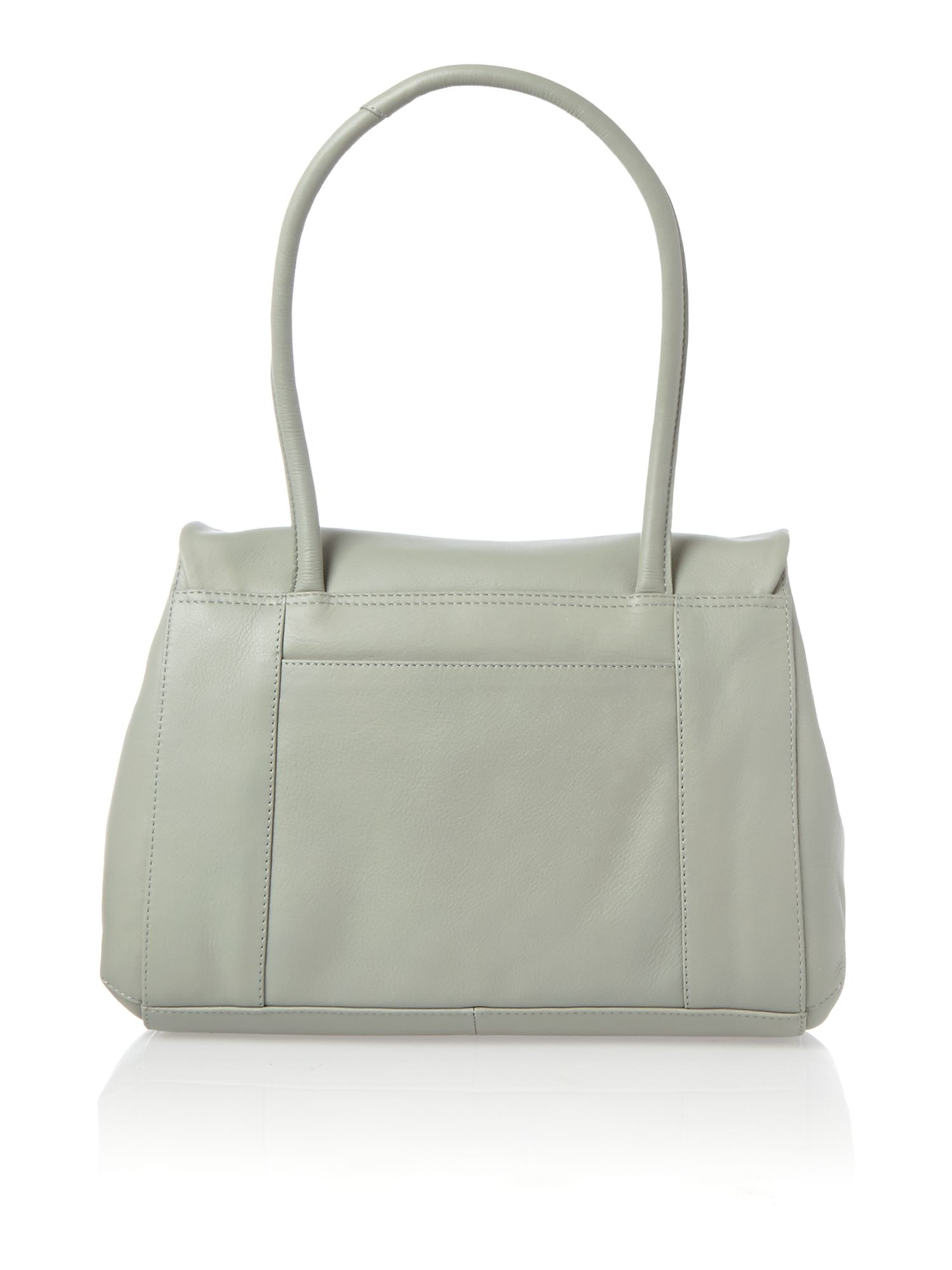 Waterloo medium flapover tote blue leather bag