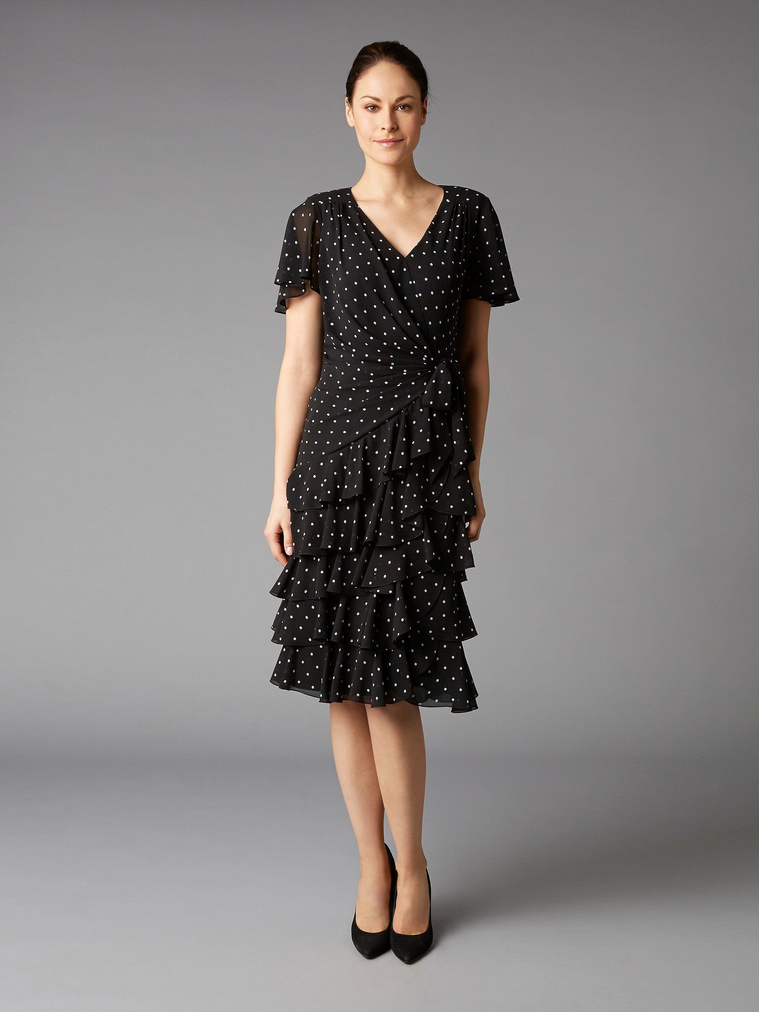 Lorcan Mullany Spot Georgette Dress