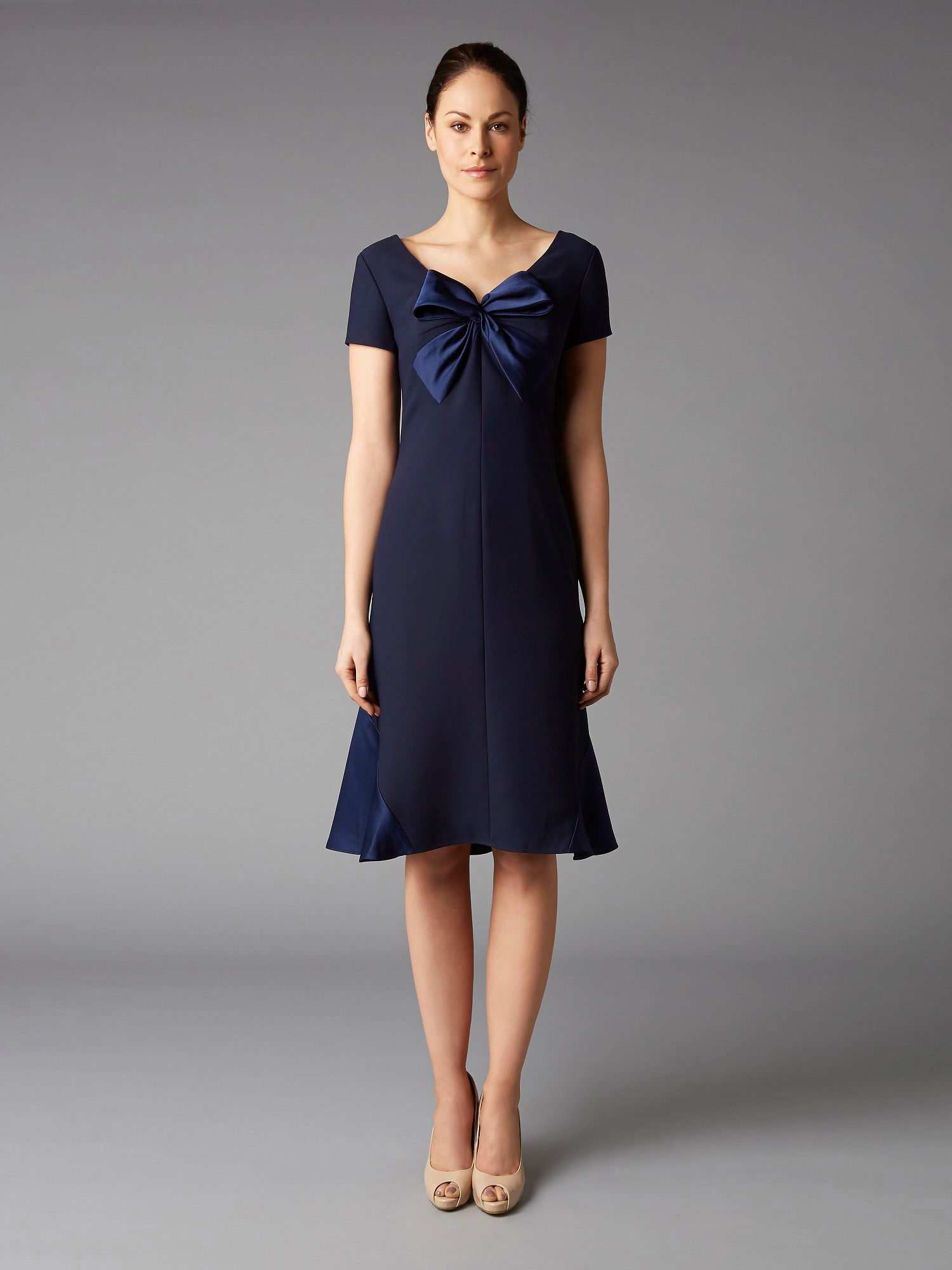 Lorcan Mullany Navy Bow Satin Dress