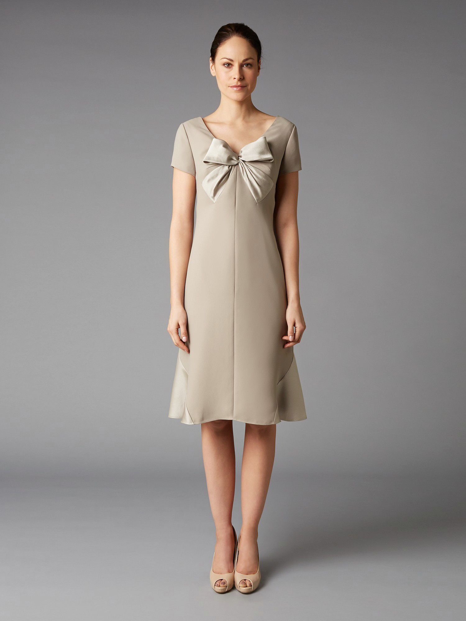 Lorcan Mullany Oyster Bow Satin Dress