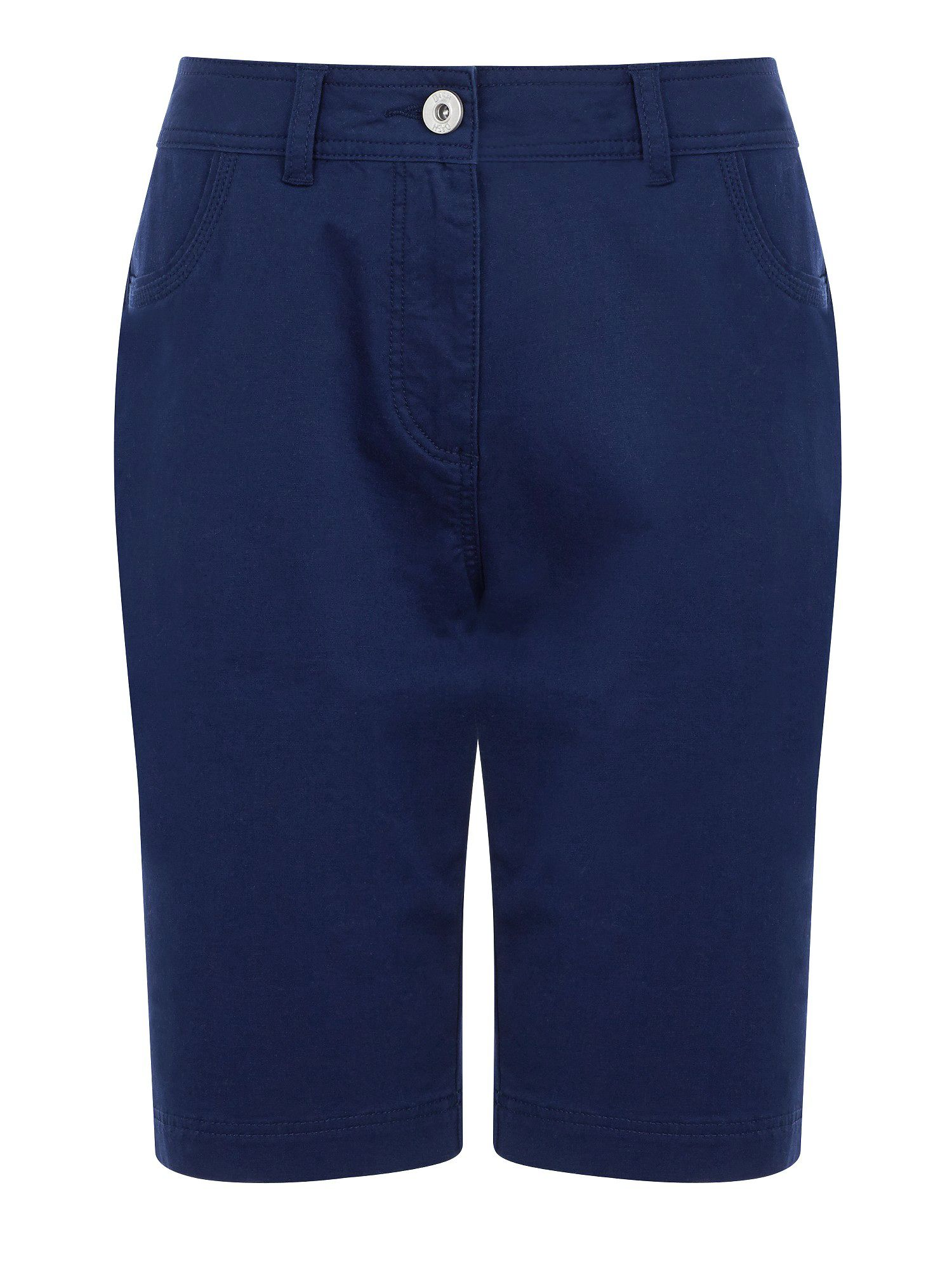 Navy cotton twill city short