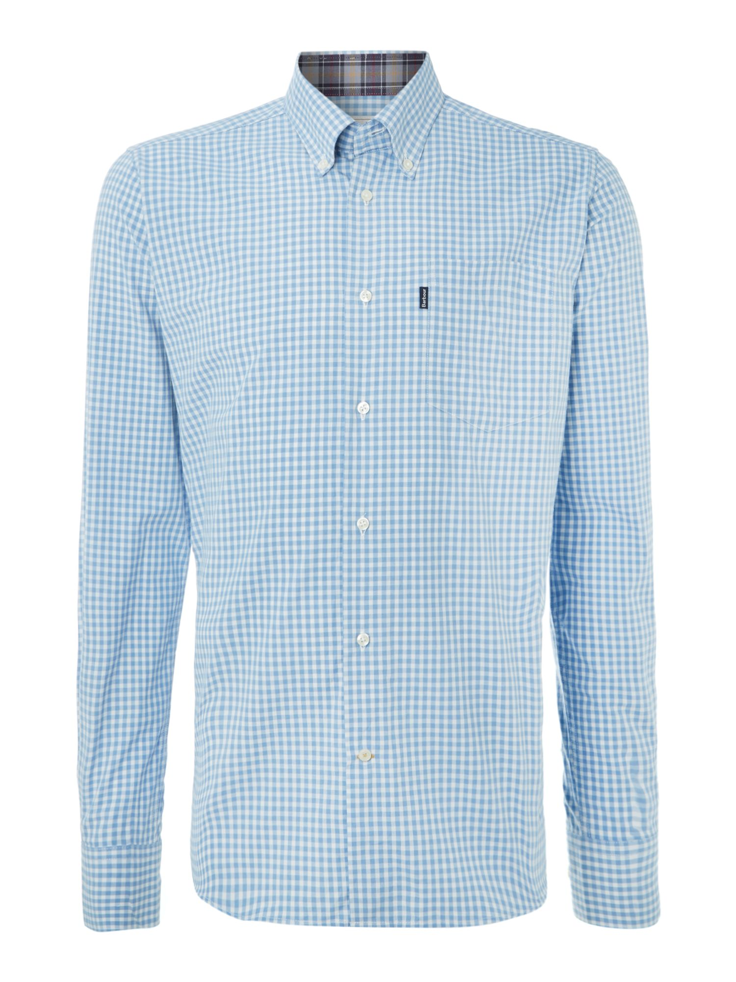 100% Cotton country gingham long sleeve shirt
