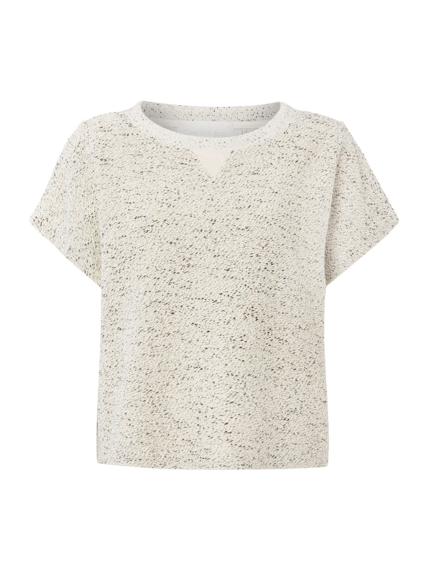 Helena short sleeve textured top