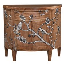 Grey blossom curved sideboard