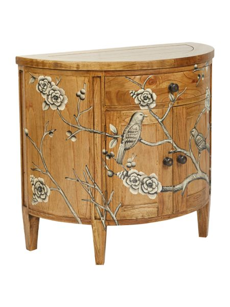 Living by Christiane Lemieux Grey blossom curved sideboard