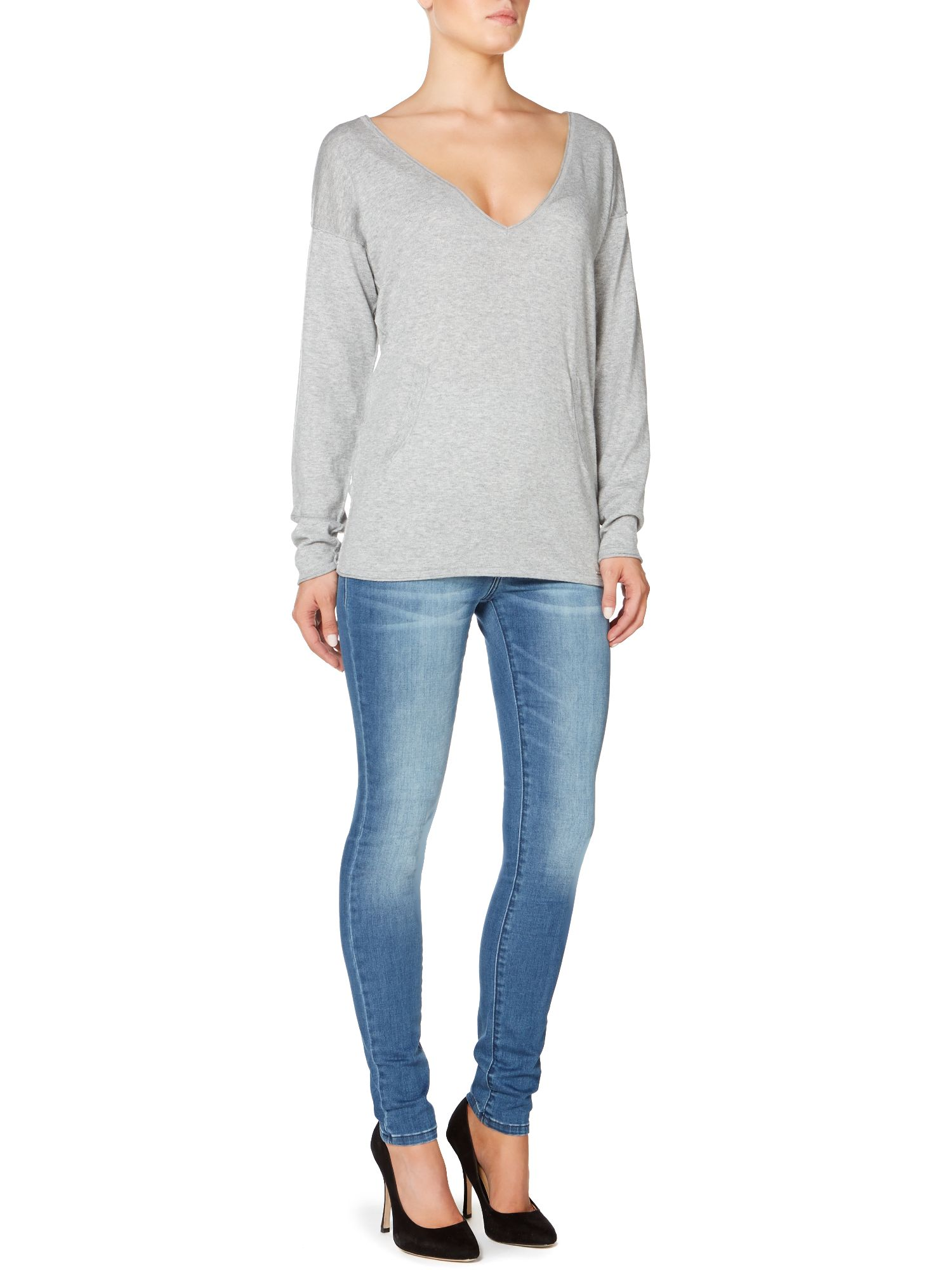 Seve long sleeve cashmere mix top