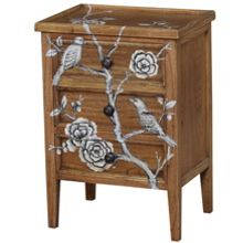 Grey Blossom 3 drawer chest