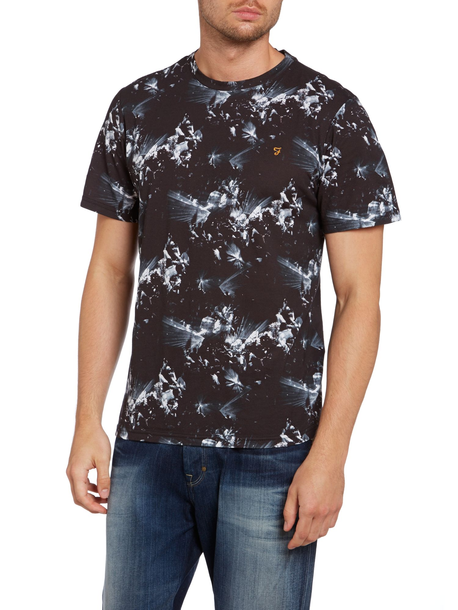 Gavin photo rave print t shirt