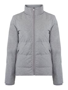 Omiram coated jacket in light grey heather