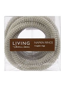 Trio napkin rings set of 4