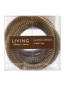 Living by Christiane Lemieux Trio napkin rings set of 4