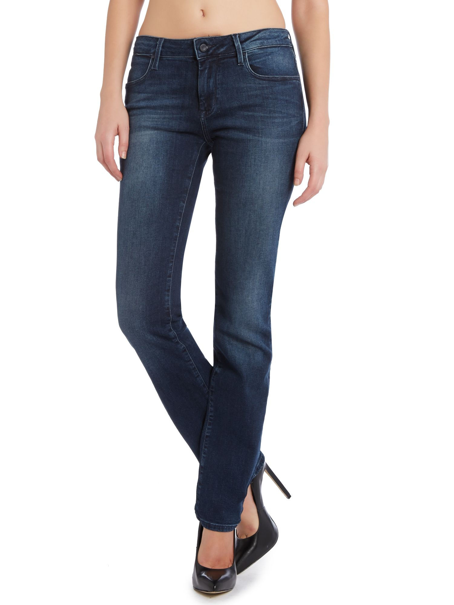 Mid rise straight jean in new core dark