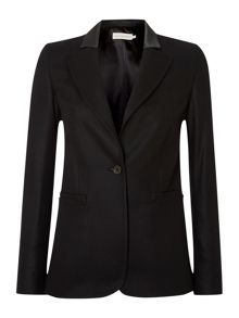 Bess one button blazer in meteorite