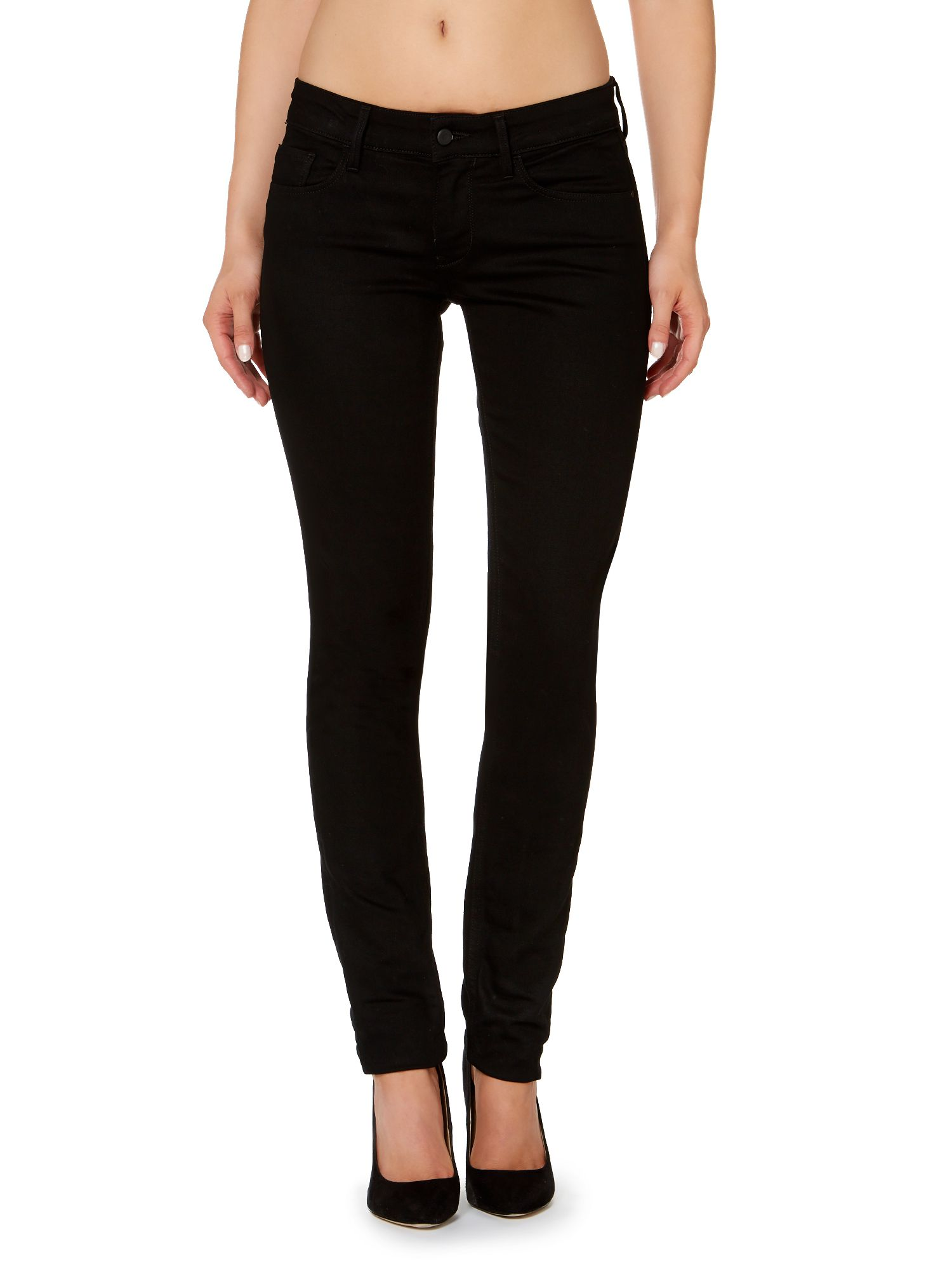 Mid rise skinny jeans in new core dark