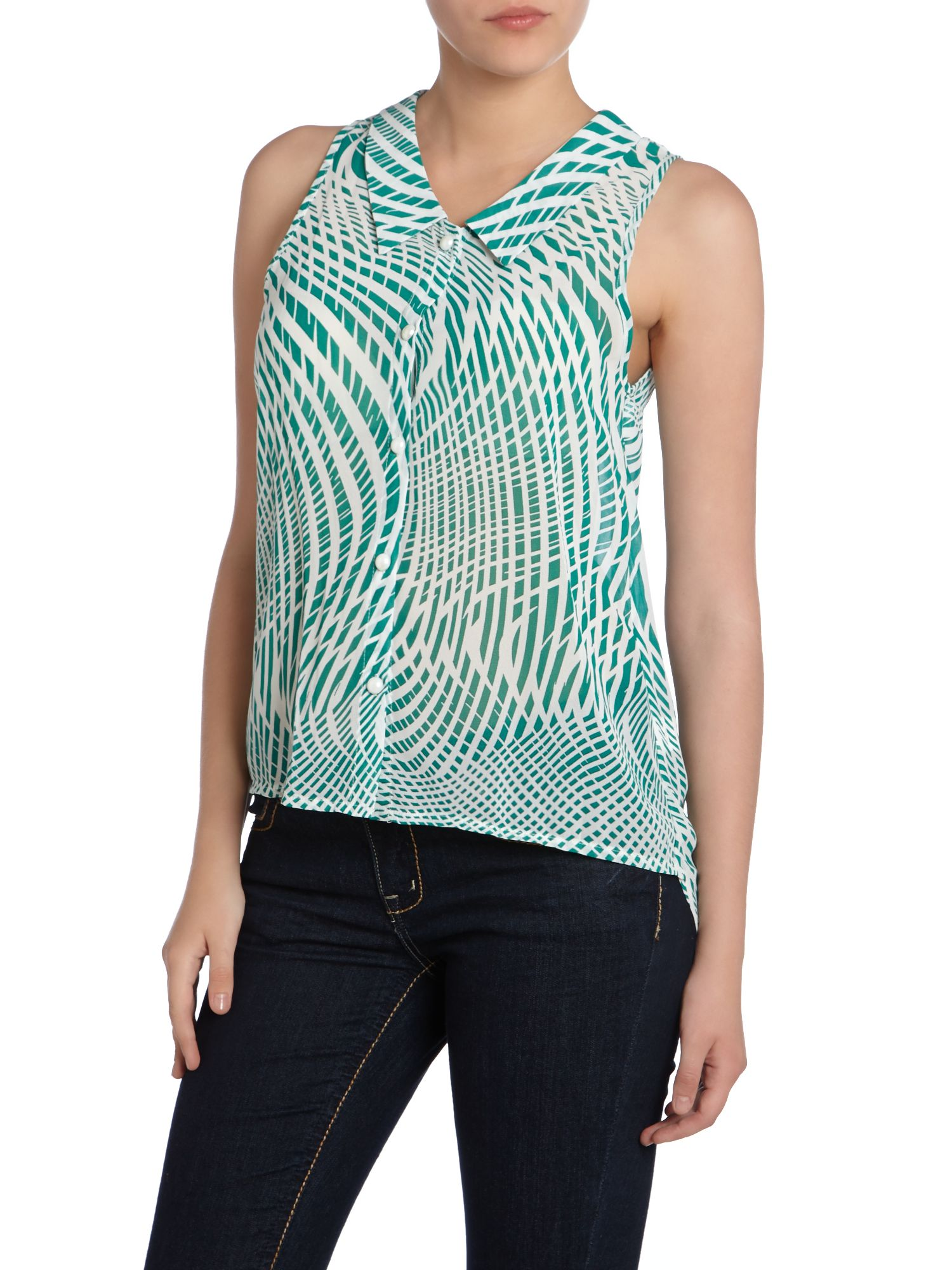 Abstract Stripes Top