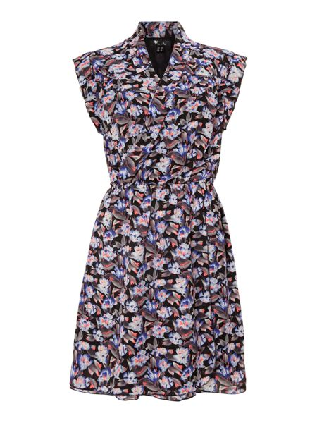 Cutie Floral Print Wrap Dress