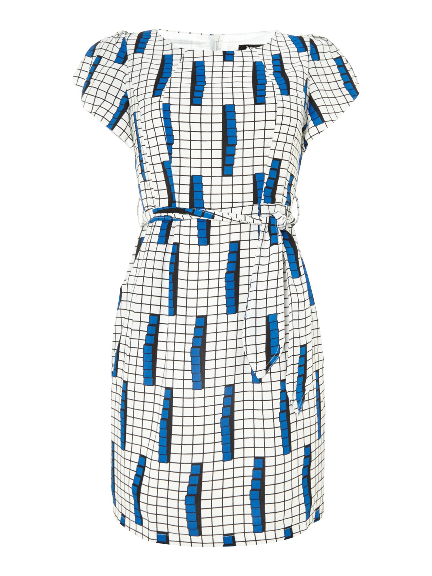 Colour Grid Print Dress