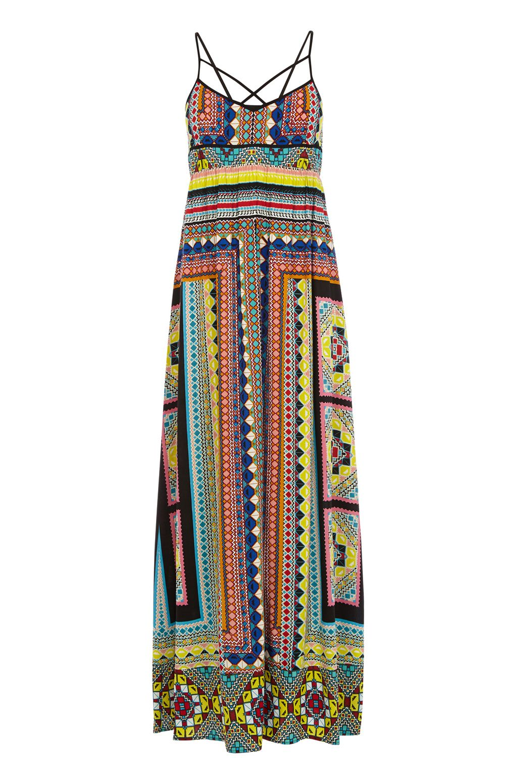 Placement tribal maxi dress
