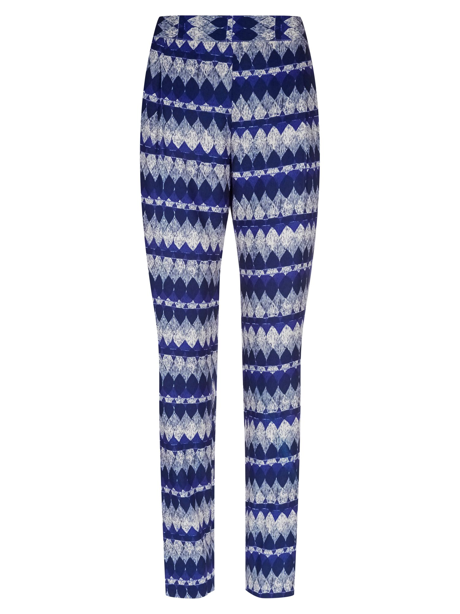 Diamond print slouchy trousers