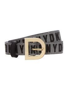 Leather black belt with D ring buckle