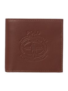 Embossed polo logo wallet