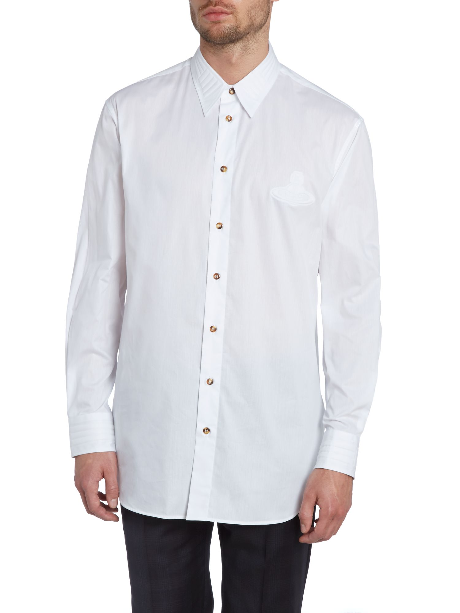 Collar detail orb logo shirt