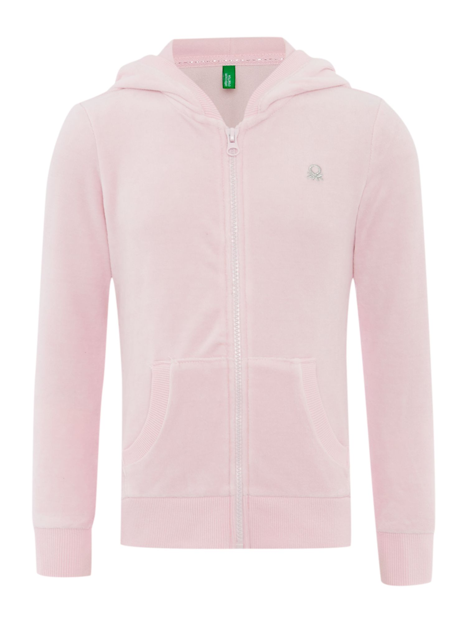Girls zip through hooded top
