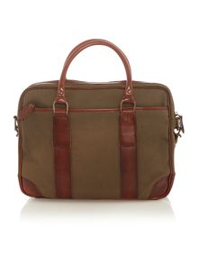 Canvas messenger briefcase