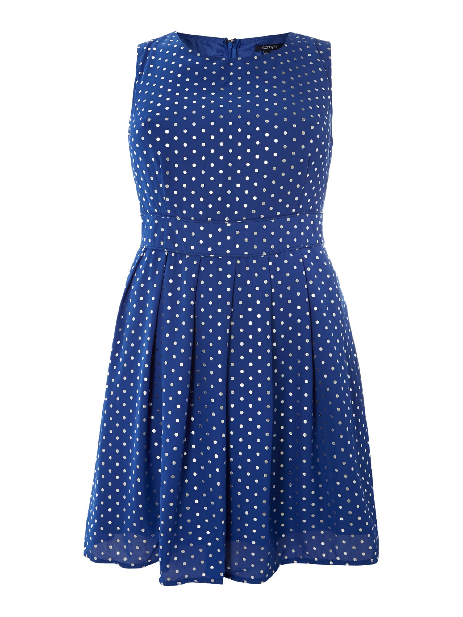 Metallic polka dot dress