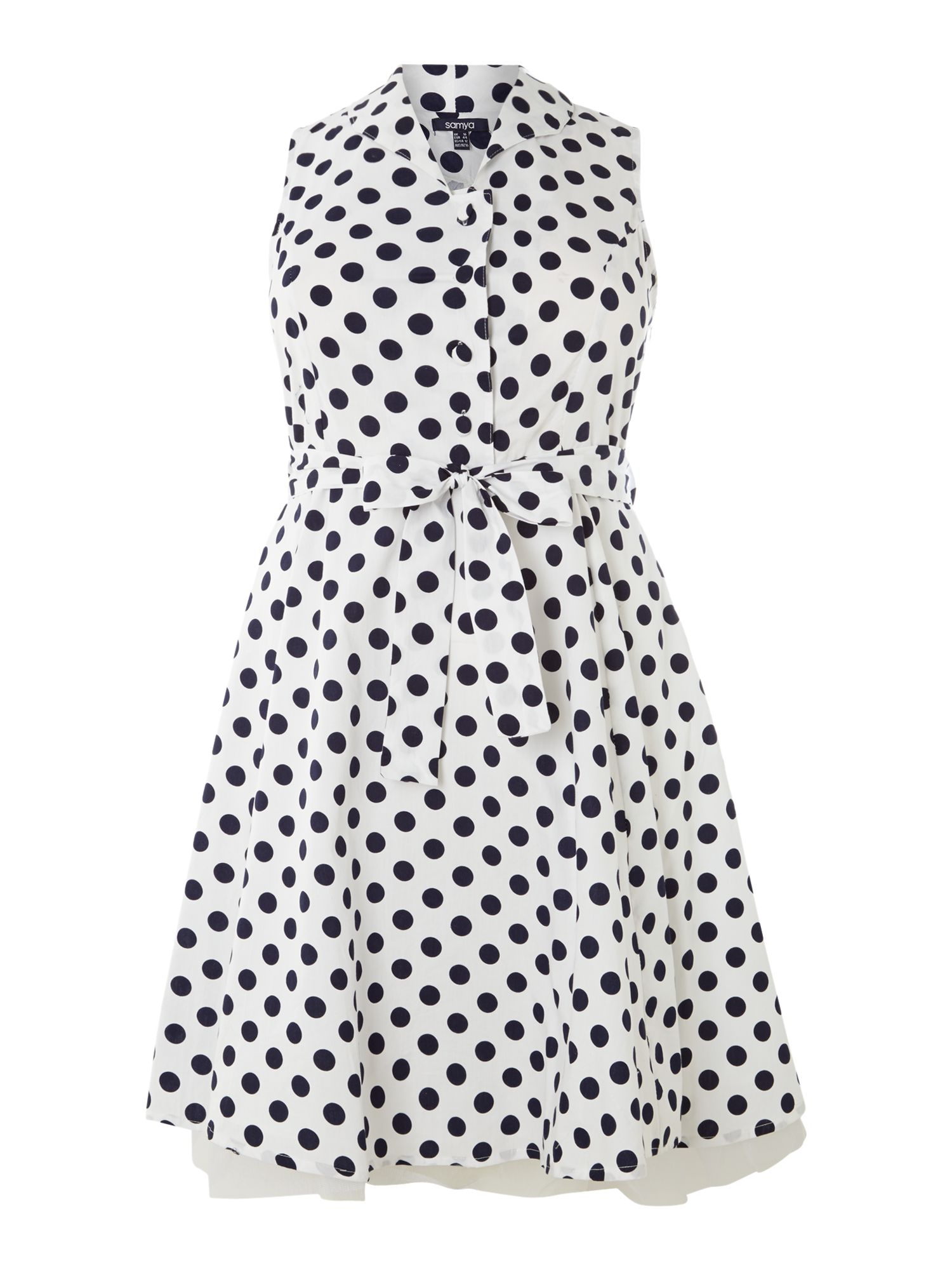 Polka dotted sleeveless dress