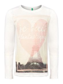 Girls Paris graphic top