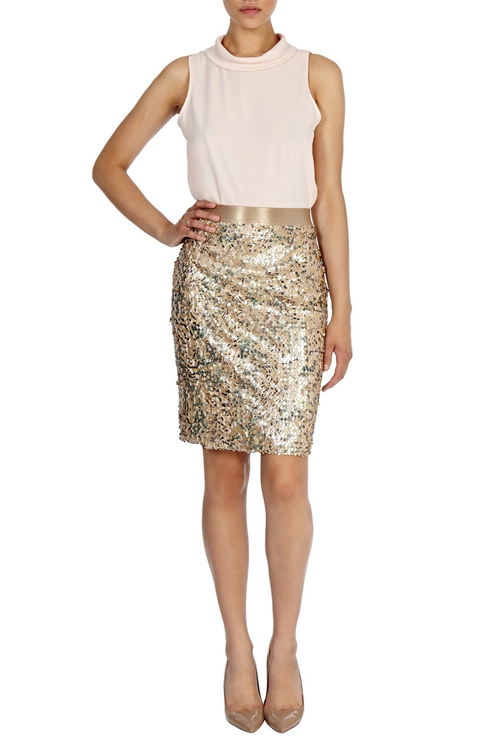 Zuki sequin skirt