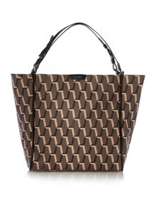 Jacqueline taupe print tote bag