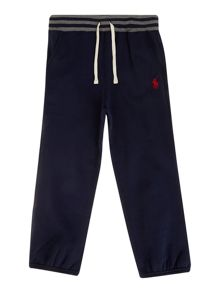 Boys drawcord jogger with contrast waistband