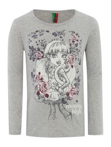 Girls Monsters High graphic top