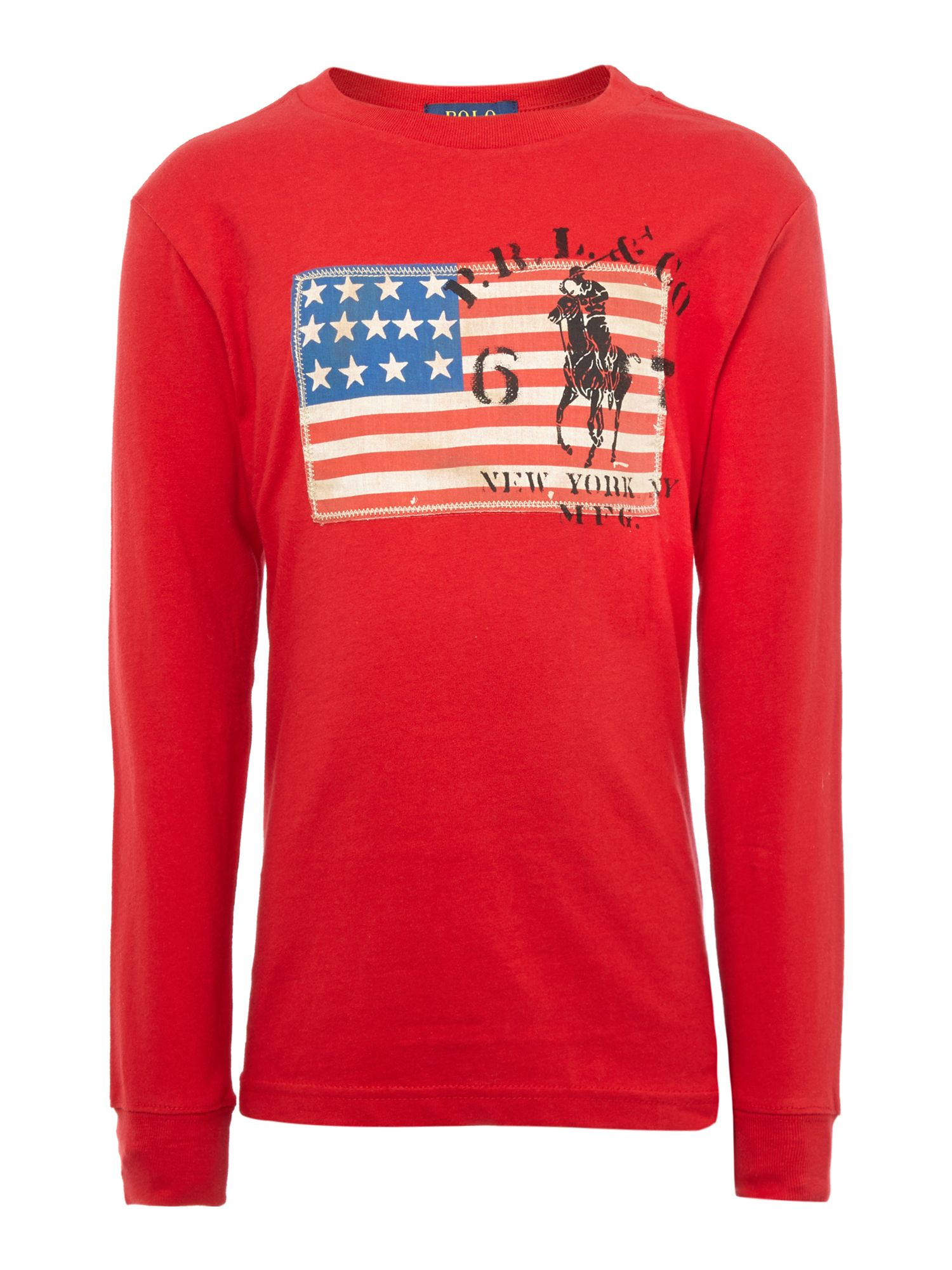 Boys USA flag applique t-shirt