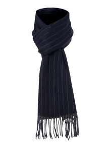 Reversible stripe lambswool scarf