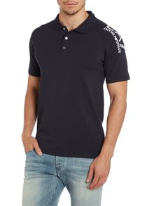 Short sleeve big arm logo polo shirt