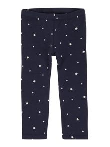 Girls all over star print legging