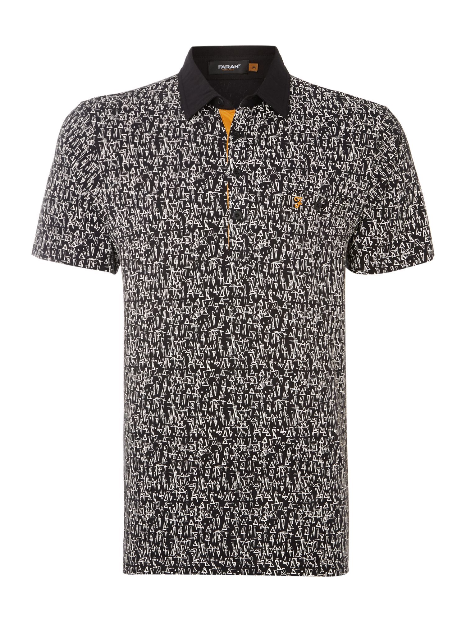 Foxcombe triangle print polo shirt