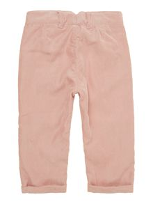 Girls pin cord bow detail trouser