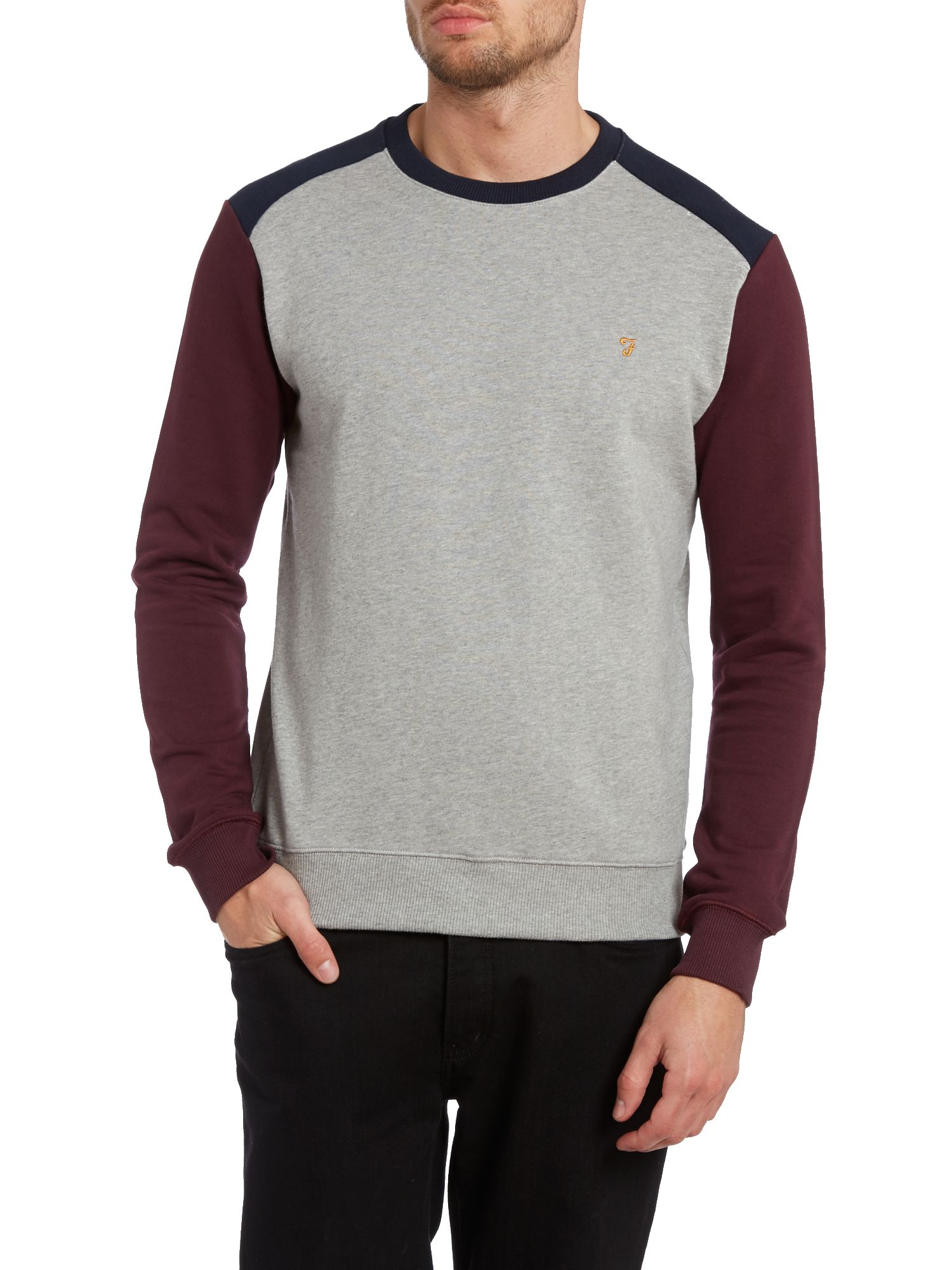 Murie crew neck panel block sweatshirt