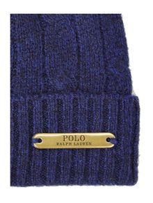 Merino cable knit hat